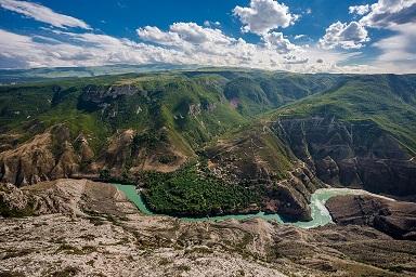 Посещение Сулакский каньон